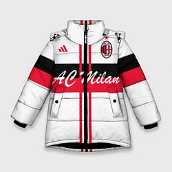 Куртка зимняя для девочки AC Milan: White Form цвета 3D-черный — фото 1