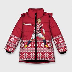 Куртка зимняя для девочки Luka Modric цвета 3D-черный — фото 1