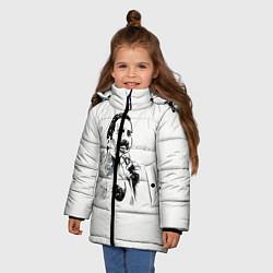 Куртка зимняя для девочки Фредди Меркьюри цвета 3D-черный — фото 2