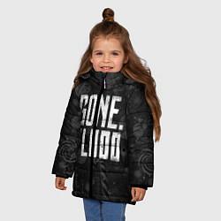 Куртка зимняя для девочки GONE Fludd Dark цвета 3D-черный — фото 2
