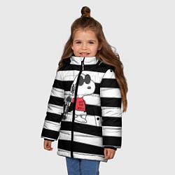 Куртка зимняя для девочки Vans Doggy цвета 3D-черный — фото 2