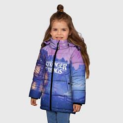 Куртка зимняя для девочки Stranger Things: Magic House цвета 3D-черный — фото 2
