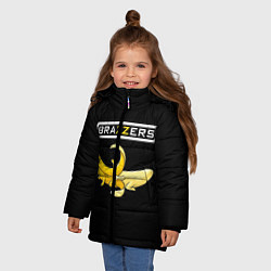 Детская зимняя куртка для девочки с принтом Brazzers: Black Banana, цвет: 3D-черный, артикул: 10167454706065 — фото 2