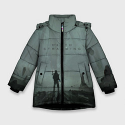 Куртка зимняя для девочки Death Stranding цвета 3D-черный — фото 1