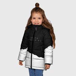 Куртка зимняя для девочки Death Stranding: Black & White цвета 3D-черный — фото 2