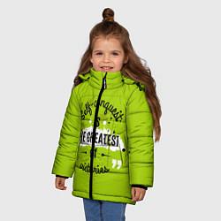 Куртка зимняя для девочки The greatest цвета 3D-черный — фото 2