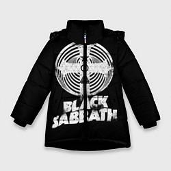 Детская зимняя куртка для девочки с принтом Black Sabbath: Faith, цвет: 3D-черный, артикул: 10170572106065 — фото 1