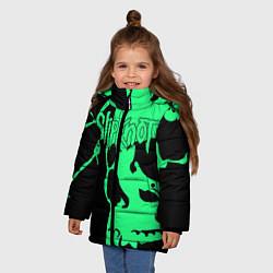 Куртка зимняя для девочки Slipknot: Acid Skull цвета 3D-черный — фото 2