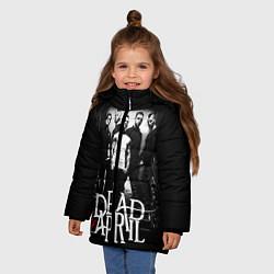 Куртка зимняя для девочки Dead by April: Dark Rock цвета 3D-черный — фото 2