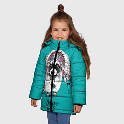 Куртка зимняя для девочки Brave and Free цвета 3D-черный — фото 2