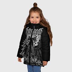 Куртка зимняя для девочки Behemoth: Abyssus Abyssum Invocat цвета 3D-черный — фото 2