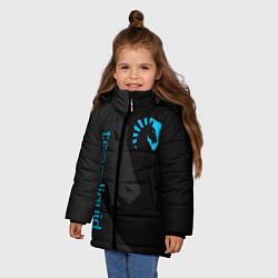 Детская зимняя куртка для девочки с принтом TEAM LIQUID, цвет: 3D-черный, артикул: 10172456706065 — фото 2