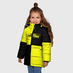 Куртка зимняя для девочки Testing ASAP Rocky цвета 3D-черный — фото 2