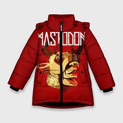 Детская зимняя куртка для девочки с принтом Mastodon: Leviathan, цвет: 3D-черный, артикул: 10172762506065 — фото 1