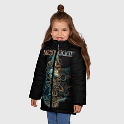 Куртка зимняя для девочки Meshuggah: Violent Sleep цвета 3D-черный — фото 2