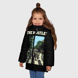 Куртка зимняя для девочки The Beatles: Abbey Road цвета 3D-черный — фото 2