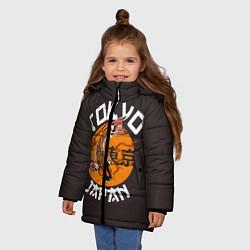 Детская зимняя куртка для девочки с принтом Tokyo, Japan, цвет: 3D-черный, артикул: 10173433506065 — фото 2
