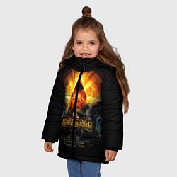 Куртка зимняя для девочки Blind Guardian: Guide to Space цвета 3D-черный — фото 2