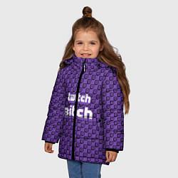 Куртка зимняя для девочки Twitch Bitch цвета 3D-черный — фото 2