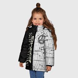 Куртка зимняя для девочки Mercedes AMG: Techno Style цвета 3D-черный — фото 2