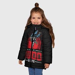 Куртка зимняя для девочки Judo is life цвета 3D-черный — фото 2
