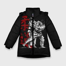 Куртка зимняя для девочки Judo цвета 3D-черный — фото 1