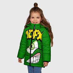 Куртка зимняя для девочки NOFX Face цвета 3D-черный — фото 2