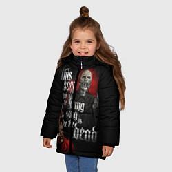 Куртка зимняя для девочки Slipknot: This Song цвета 3D-черный — фото 2