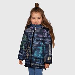 Куртка зимняя для девочки HOLLOW KNIGHT WORLD цвета 3D-черный — фото 2