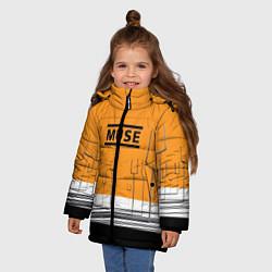 Куртка зимняя для девочки Muse: Orange Mood цвета 3D-черный — фото 2
