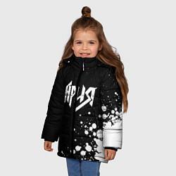 Куртка зимняя для девочки Ария цвета 3D-черный — фото 2