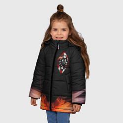 Куртка зимняя для девочки Офицерский штурмовик цвета 3D-черный — фото 2