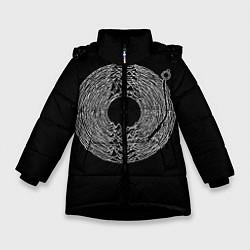 Детская зимняя куртка для девочки с принтом Joy Division, цвет: 3D-черный, артикул: 10183424106065 — фото 1