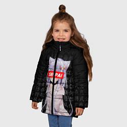 Куртка зимняя для девочки SENPAI ANIME цвета 3D-черный — фото 2