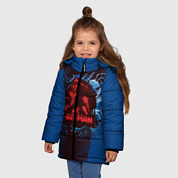 Куртка зимняя для девочки Ant-man цвета 3D-черный — фото 2