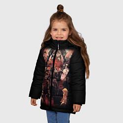 Куртка зимняя для девочки Overlord 1 цвета 3D-черный — фото 2