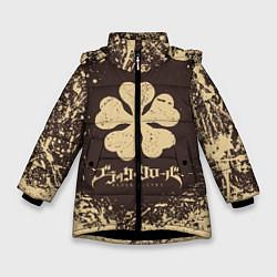 Куртка зимняя для девочки ЧЁРНЫЙ КЛЕВЕР цвета 3D-черный — фото 1