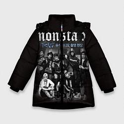 Детская зимняя куртка для девочки с принтом Monsta X, цвет: 3D-черный, артикул: 10186735506065 — фото 1