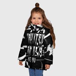 Куртка зимняя для девочки KIZARU - HAUNTED FAMILY цвета 3D-черный — фото 2