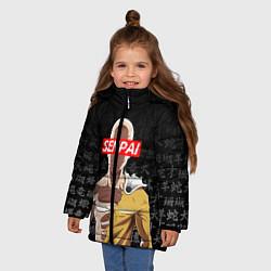 Куртка зимняя для девочки SENPAI ONE PUNCH MAN цвета 3D-черный — фото 2
