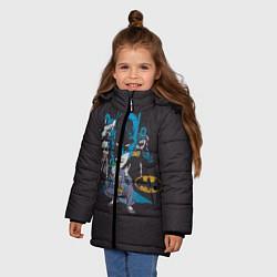Куртка зимняя для девочки Batman classic цвета 3D-черный — фото 2