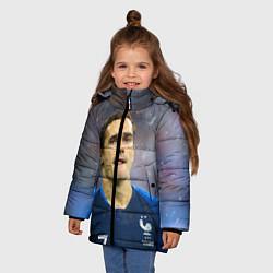 Куртка зимняя для девочки Антуан Гризманн цвета 3D-черный — фото 2