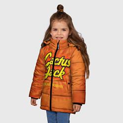 Куртка зимняя для девочки Cactus Jack цвета 3D-черный — фото 2