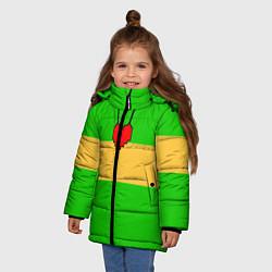 Куртка зимняя для девочки ЧАРА CHARA цвета 3D-черный — фото 2