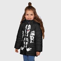 Куртка зимняя для девочки Doctor Who цвета 3D-черный — фото 2