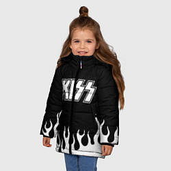 Куртка зимняя для девочки Kiss цвета 3D-черный — фото 2