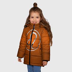 Куртка зимняя для девочки Leo Лев цвета 3D-черный — фото 2