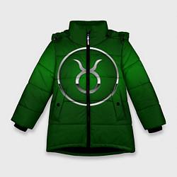 Куртка зимняя для девочки Taurus Телец цвета 3D-черный — фото 1
