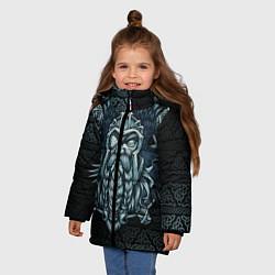 Куртка зимняя для девочки Odinn цвета 3D-черный — фото 2