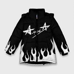 Куртка зимняя для девочки Алиса цвета 3D-черный — фото 1